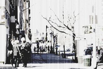 Talking on street